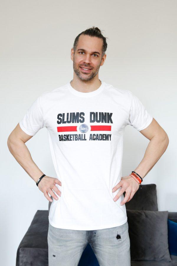 bruno Maglietta bianca Slums Dunk